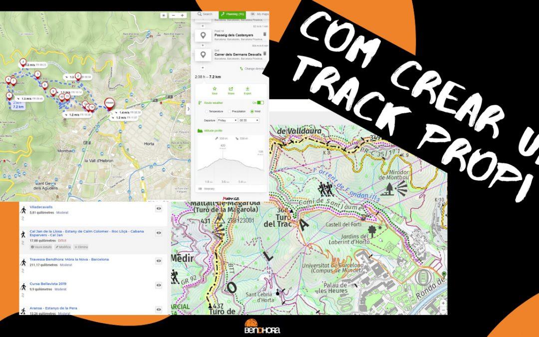Com crear un track des de Zero amb Wikiloc o Mapy